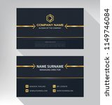 business model name card luxury ... | Shutterstock .eps vector #1149746084