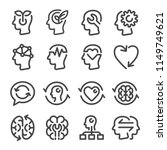 mindset icon set | Shutterstock .eps vector #1149749621