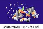 a multicolored paper turbine...   Shutterstock . vector #1149751421