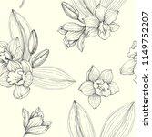 vector floral vintage seamless... | Shutterstock .eps vector #1149752207