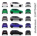 realistic cars set. hatchback.... | Shutterstock .eps vector #1149754367