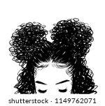 curly beauty girl illustration... | Shutterstock .eps vector #1149762071