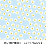 floral patern white daisy... | Shutterstock .eps vector #1149763091
