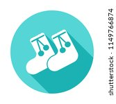 children's warm socks icon in...