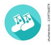 children's warm socks icon in...