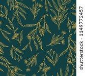 vector eucalyptus hand drawn... | Shutterstock .eps vector #1149772457