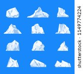set of isolated iceberg or... | Shutterstock .eps vector #1149774224