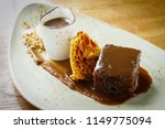 sticky toffee pudding   Shutterstock . vector #1149775094