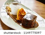 sticky toffee pudding   Shutterstock . vector #1149775097