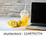 refreshing drink with ice from... | Shutterstock . vector #1149791774