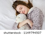 happy young woman with blonde... | Shutterstock . vector #1149794507