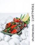 vegetables grill background... | Shutterstock . vector #1149794561