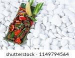 vegetables grill background... | Shutterstock . vector #1149794564