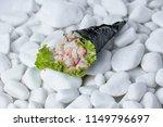 nigiri background is white... | Shutterstock . vector #1149796697