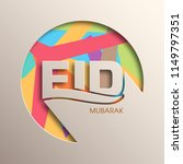 illustration of eid mubarak... | Shutterstock .eps vector #1149797351