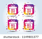 sale gift box tag icons.... | Shutterstock .eps vector #1149801377