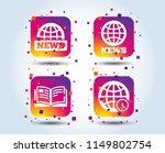 news icons. world globe symbols.... | Shutterstock .eps vector #1149802754