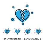 break up love line icon.... | Shutterstock .eps vector #1149802871
