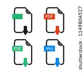 set of vector download icons.... | Shutterstock .eps vector #1149804527