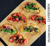 selection of tasty italian... | Shutterstock . vector #1149809804