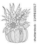 vector doodle coloring book... | Shutterstock .eps vector #1149810317