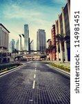 cityscape in retro style. dubai ...   Shutterstock . vector #114981451