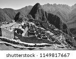 black and white landscape of... | Shutterstock . vector #1149817667