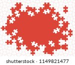 red puzzle pieces. vector... | Shutterstock .eps vector #1149821477