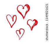 set of four hand drawn scrawl... | Shutterstock .eps vector #1149821621