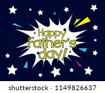 happy father's day  beautiful... | Shutterstock .eps vector #1149826637