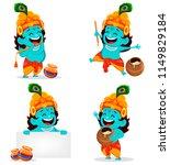 happy krishna janmashtami... | Shutterstock .eps vector #1149829184