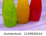 multicolored drinks with seeds... | Shutterstock . vector #1149830414
