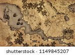 old vintage fantasy map   | Shutterstock . vector #1149845207