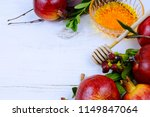 holiday border on white washed... | Shutterstock . vector #1149847064