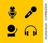 radio icon. 4 radio set with...   Shutterstock .eps vector #1149862604