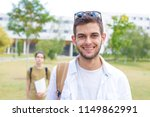 students on the campus of the... | Shutterstock . vector #1149862991