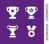 honor icon. 4 honor set with... | Shutterstock .eps vector #1149864251