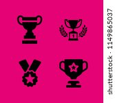 honor icon. 4 honor set with... | Shutterstock .eps vector #1149865037