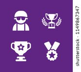 honor icon. 4 honor set with... | Shutterstock .eps vector #1149867347