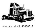 classic american truck black... | Shutterstock .eps vector #1149888317