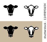 head of a cow  calf   vector... | Shutterstock .eps vector #1149893654