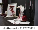 part of photozone on halloween... | Shutterstock . vector #1149893831