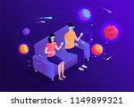 isometric virtual reality space ... | Shutterstock .eps vector #1149899321