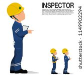 an inspector is pointing... | Shutterstock .eps vector #1149902294