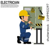 an electrical worker is fixing... | Shutterstock .eps vector #1149902297
