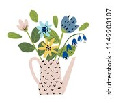 illustration with a bouquet of...   Shutterstock .eps vector #1149903107