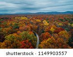 view of a road and autumn color ... | Shutterstock . vector #1149903557