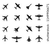 aircraft icons collection | Shutterstock .eps vector #1149906671