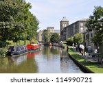 Canal Boats Moored In Skipton ...
