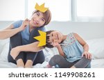 portrait of mother and child... | Shutterstock . vector #1149908261